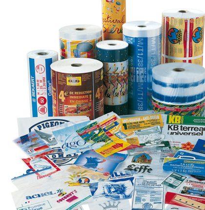 Films plastique imprimés pour emballages alimentaires